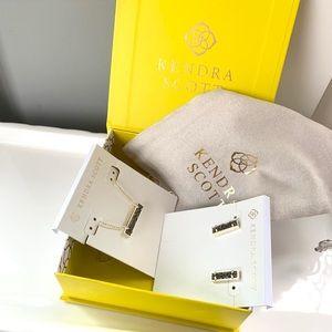 NWT Kendra Scott 14k gold drusy pendant & earrings